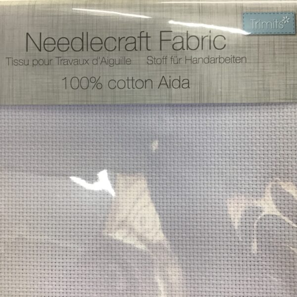 Aida 16 Count Cross Stitch fabric 30x45cm – White Cotton