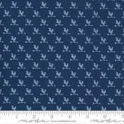 Break of Day 4310814 Chickens on Navy Blue by Sweetfire for Moda fabric