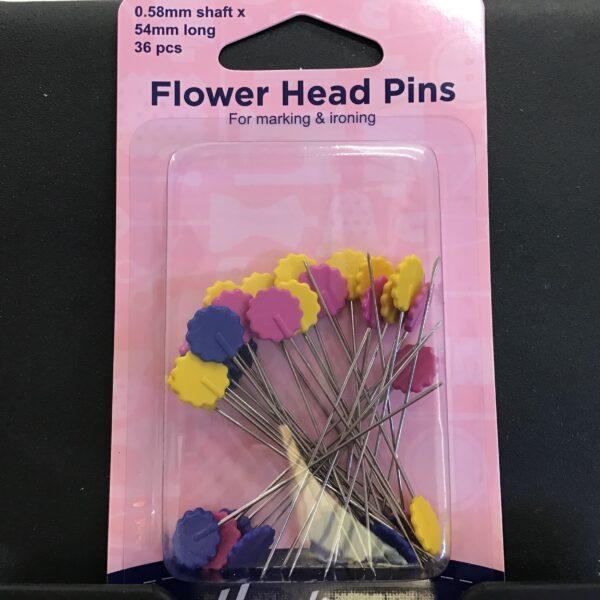 Flower/Flat Head Pins: Nickel – 54mm, 36 pieces
