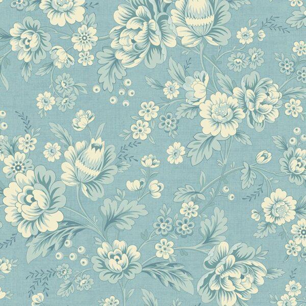 Bluebird 9767B Dahlia Blue fabric by Edyta Sitar by Laundry Basket Quilts