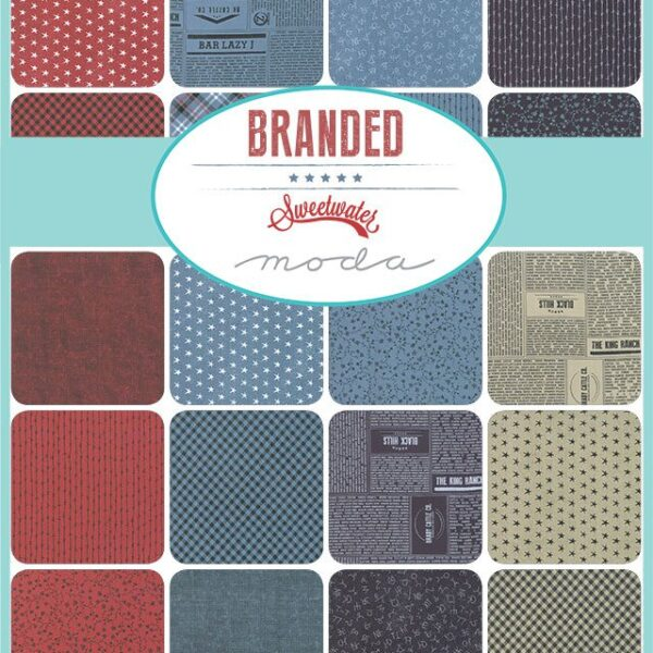 Branded 5″ Charm Pack Red White Blue by Sweetwater for Moda Fabric