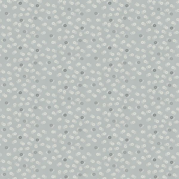 Tranquility 2413S Floret Silver grey fabric by Makower