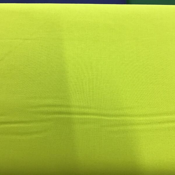 2000G21 Bright Lime Green plain solid fabric from Makower