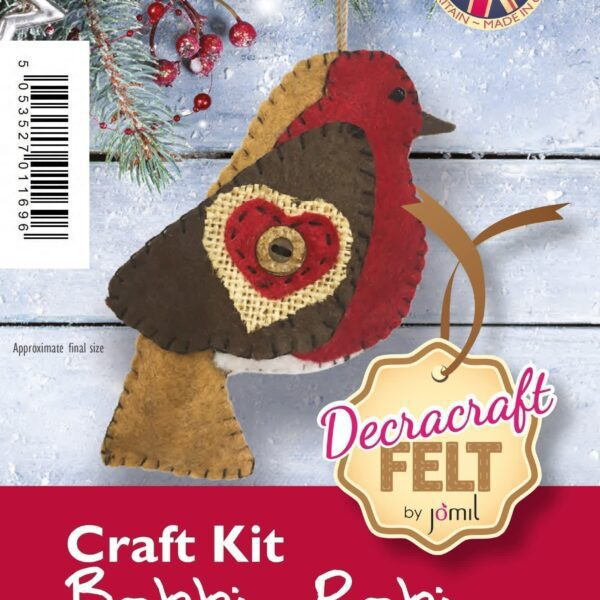 Felt Robin Craft Kit 4″ approx