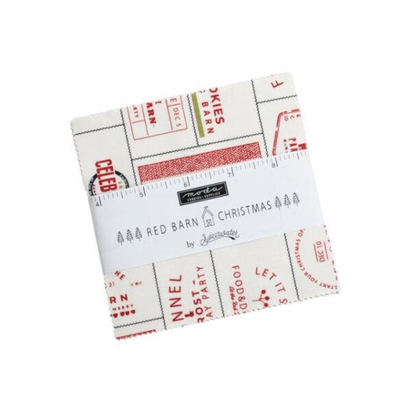 Red Barn Christmas 5″ Charm Pack by Sweetwater for Moda fabrics