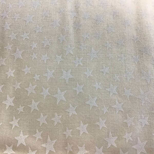 48489T All Stars White stars  on Cream tone on tone small stars blender fabric by Kingfisher